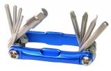 Ключи шестигранные в наборе 2/2.5/3/4/5/6/8 мм с отверткой и ключом Т25, MT-110