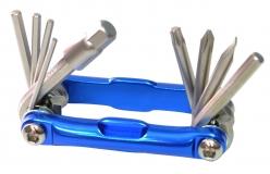 Ключи шестигранные в наборе 2/2.5/3/4/5/6/8  мм с отверткой и ключом Т25 MT-110