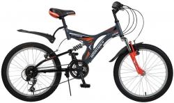 Велосипед 20 Novatrack TITANIUM 2016 серый 12ск
