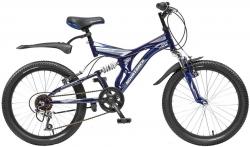 Велосипед 20 Novatrack TITANIUM 2015 темно-синий 6ск