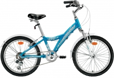 Велосипед 20 FORWARD COMANCHE 1.0 LADY 10,5рост 2017 синий 6ск
