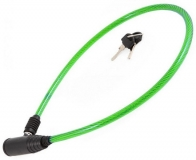 Vinca Sport, Замок велосипедный 8*650мм, зеленый тросик. инд.уп. Vinca Sport 101.101 green