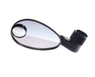 Зеркало заднего вида DX-222SVD, с доп. широкоугольным зеркалом, крепление на липучке поверх грипс