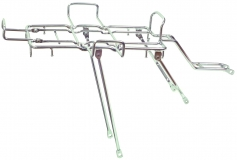 Багажник YUENI стальной с дополнительными дугами, хром