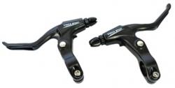 Тормозные ручки Vinca Sport, (пара),  материал - алюминий, черные, VB 51 black