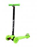 Самокат детский TRIX ELEOS, четырехколесный, 2x120 мм, зад 2x80 мм, max 60 кг, алюм/пласт, зеленый