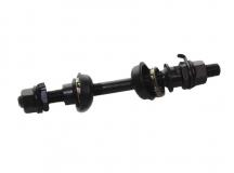 Ось передней втулки 3/8 *145мм ремонтная, под гайки, черная, SF-AX03 (F)