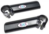 Рога на руль алюминиевые, черные KWL-12