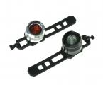 TRIX, Фонарь габаритный, JY-3006 black/silver, перед + зад, суперяркий диод, 2 режима, алюминиевый к