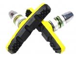 Колодки Vinca sport для V-brake 60мм, VB 262 yellow/black, желтые с черным