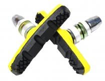 Vinca sport, Колодки для V-brake 60мм, VB 262 yellow/black, желтые с черным