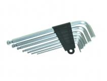 Ключи шестигранные в наборе 2.5/3/4/5/6/8/10мм - пластиковый держатель, KL-9704A