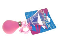 Клаксон пластик, резиновая груша, розовый, XN-8-15