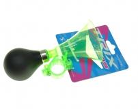 Клаксон пластик, резиновая груша, зеленый, XN-8-17