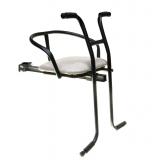 Кресло детское на раму, универсальное, с ручкой, сталь, мягкое сиденье