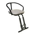 Кресло детское на раму, универсальное, черное, сталь, мягкое сиденье