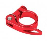 Эксцентрик подседельный с хомутом  ø 28.6 mm (Материал:алюм.;Цвет:red) AS-01+SQ-128