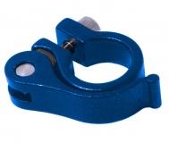 Эксцентрик подседельный с хомутом  ø 28.6 mm (Материал:алюм.;Цвет:blue) AS-01+SQ-128