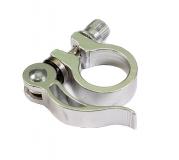 Эксцентрик подседельный с хомутом, 28,6 мм, материал: алюм., цвет: silver, JB-KC010