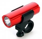 Фара передняя X-light, алюминий, 1 диод, 1 Ватт, красный корпус, XC-983