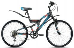 Велосипед 24 FORWARD CRUNCHER 1.0 14,5рост 2017 серый матовый