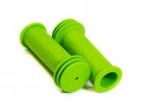 Грипсы HL-G96 green, для детских велосипедов 102 мм, с упором, зеленые