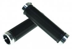 KMS, Грипсы черные, 2 серых грипстопа, 130 мм