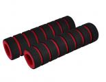 Грипсы поролоновые, черно-красные 110 мм