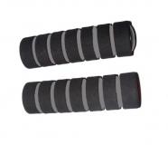 Грипсы поролоновые, черно-серые 110 мм