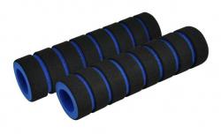Грипсы поролоновые, черно-синие 110 мм