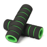 Грипсы поролоновые, черно-зеленые 110 мм
