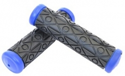 Ручки руля резиновые черно-синие, 122 мм, Joykie JK-1912