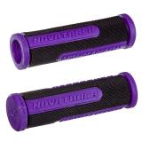 Грипсы резиновые Novatrack, 110мм, черно-фиолетовый (РТ266С)
