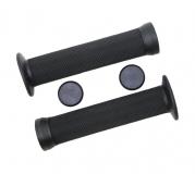 Грипсы TRIX, резиновые, для ВМХ, 145 мм, антисколз. упор, торцевые заглушки, черные, HL-G83