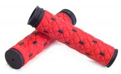 Грипсы VELO кратон/гель, черно-красные L=125мм