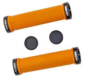 Грипсы Vinca sport, с метал. зажимами, длина 129мм, оранжевые, зажим чёрный H-G119 orange/black