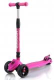 Самокат детский HOGGER BIGFOOT, перед 135*50мм, зад 90*24мм, розовый