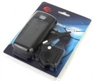 JING YI, Передняя фара JY-377, 4 диода, встроенная солнечная батарея + аккумулятор + шнур USB