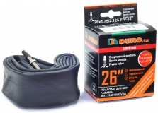 DURO, Камера 26*1,75/2,125 велониппель F/V 52мм, бутил