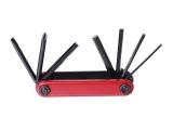 Ключи шестигранные в наборе 2/3/4/5/6/ мм с отверткой, KL-9804