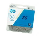 KMC, Цепь Z-6 (6 скоростей) к-во звеньев 116, Gray/Gray