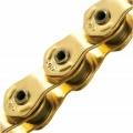 КМС цепь HL1-W HALF LINK (1-ск.), для ВМХ и FIXIE, 100 зв., пин 9,5 мм, GOLD