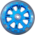 Vinca Sport, Колесо 116 мм для самокатов, ABEC 7, ПВХ, светящееся, голубое