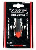 VENZO, Колодки V-brake картриджные R002 55мм черн/красн.