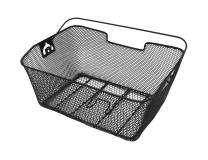 Корзина на багажник, 40х17х28 см, черная, BSK-1815, ручка