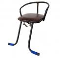 Кресло детское на раму, подножки, сталь, мягкое сиденье