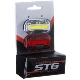 Набор велосипедных фонарей STG, JY-6068, резин. хомут, батарейки