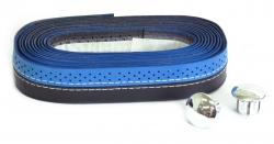 VELO,Обмотка руля VLT-007 синий/черный с шитьем