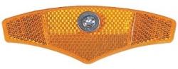 Отражатель на спицы (желтый) пластик, крепление винт. HL-R13