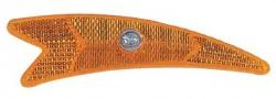Отражатель на спицы (стрелка) пластик (желтый), крепление винт. HL-R14